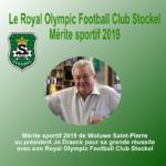 Mérite sportif de Woluwe Saint-Pierre 2019 à Jo Draeck