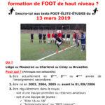 Etudes et foot de haut niveau